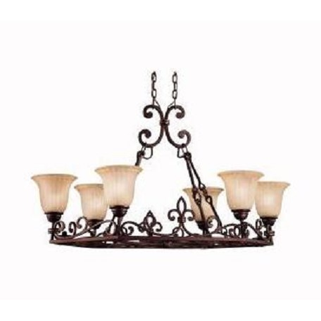Kichler Kichler 2090Cz Carre Bronze Wilton Single-Tier  Chandelier With 6 Lights
