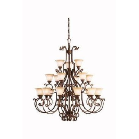 Kichler Tannery Bronze With Gold Accents Larissa 3-Tier  Chandelier With 21 Lights