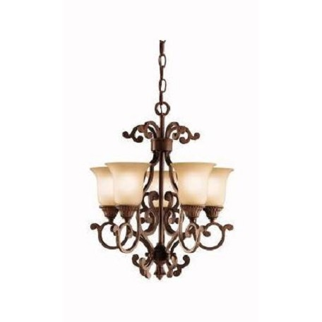 Kichler Tannery Bronze With Gold Larissa Single-Tier Mini Chandelier With 5 Lights