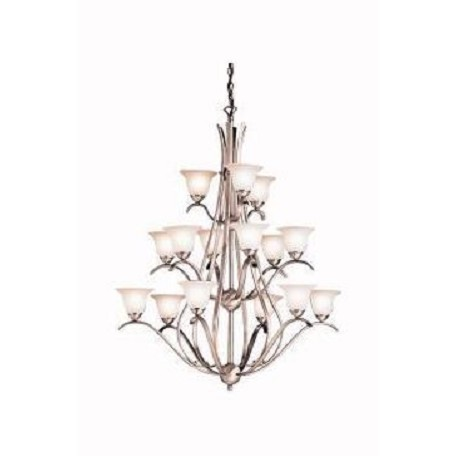 Kichler Kichler 2523Ni Brushed Nickel Dover 3-Tier  Chandelier With 15 Lights