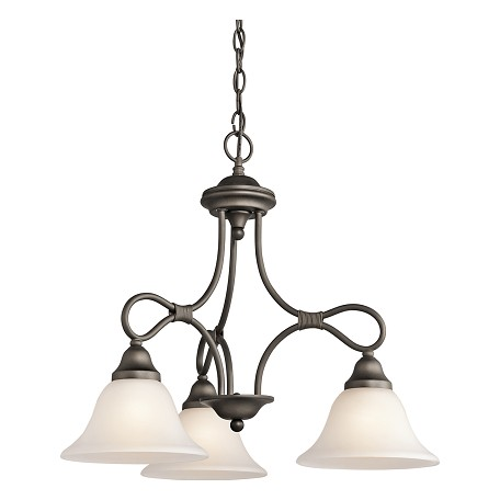 Kichler Three Light Olde Bronze Down Chandelier