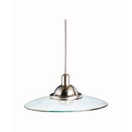 Kichler Brushed Nickel Galaxie Single-Bulb Indoor Pendant With Round Glass Shade
