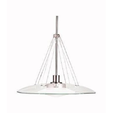 Kichler Brushed Nickel Structures Singlebulb Indoor Pendant With Glass Shade