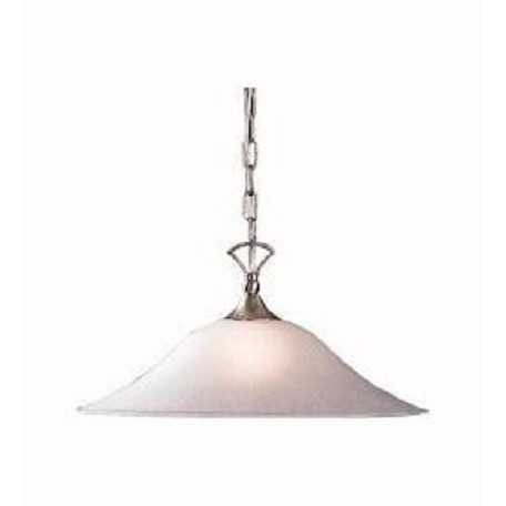 Kichler Brushed Nickel Dover Single-Bulb Indoor Pendant With Dome-Shaped Glass Shade