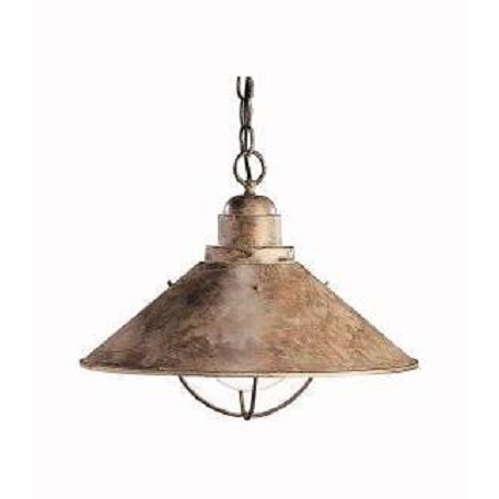 Kichler One Light Olde Brick Down Pendant