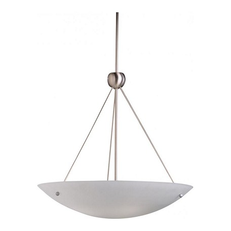 Kichler Brushed Nickel Family Space 4-Bulb Indoor Pendant With Bowl-Shaped Glass Shade
