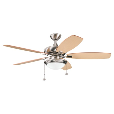 "Kichler Kichler 300016Bss Brushed Stainless Steel 52"" Indoor Ceiling Fan With 5 Blades"