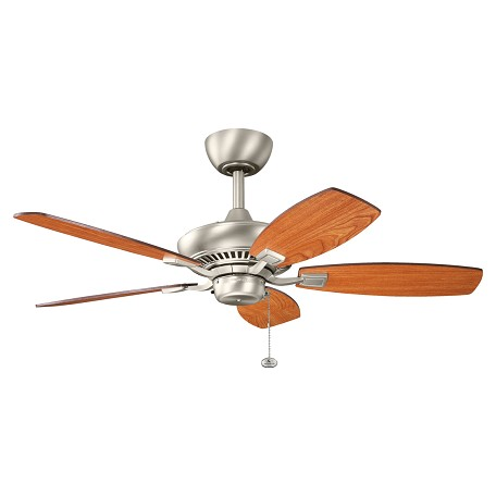 "Kichler Kichler 300107Ni Brushed Nickel Canfield 44"" Indoor Ceiling Fan With 5 Blades"