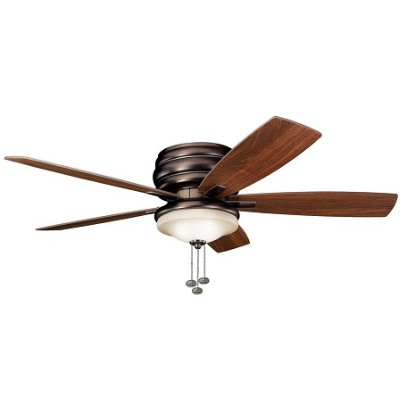 Kichler Three Light Oil Brushed Bronze Outdoor Fan