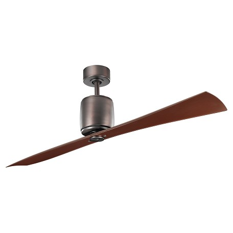 "Kichler Oil Brushed Bronze Ferron 60"" Indoor Ceiling Fan With 2 Blades"