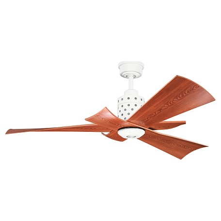 Kichler One Light White Ceiling Fan