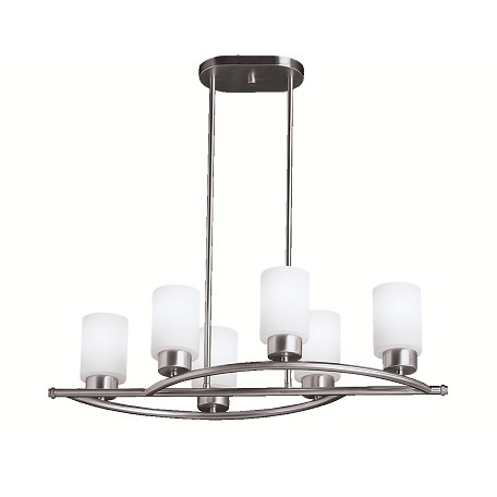 Kichler Brushed Nickel Modena Single-Tier Linear Chandelier With 6 Lights