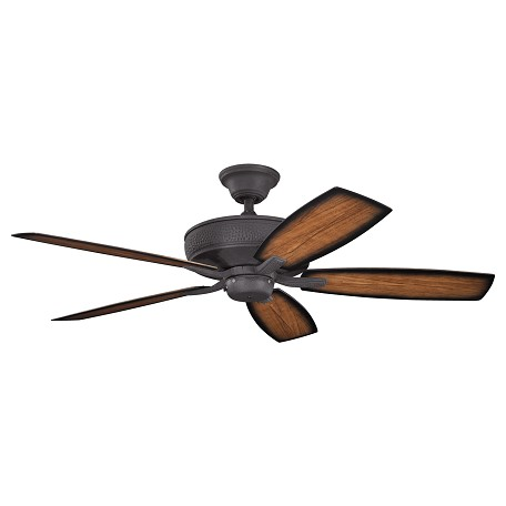 "Kichler Distressed Black Monarch Ii Patio 54"" Outdoor Ceiling Fan With 5 Blades"