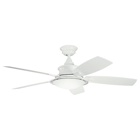 "Kichler White With White/White Blades Cameron 52"" Indoor Ceiling Fan With 5 Blades"