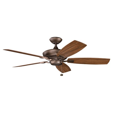 Kichler Weathered Copper Powder Coat Outdoor Fan