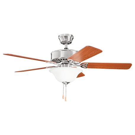 Kichler Two Light Brushed Stainless Steel Ceiling Fan