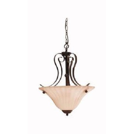 Kichler Two Light Tannery Bronze Up Pendant