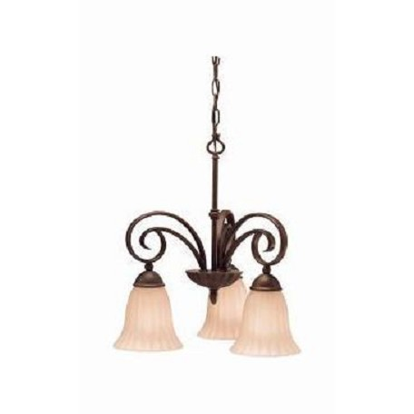 Kichler Three Light Tannery Bronze Down Chandelier