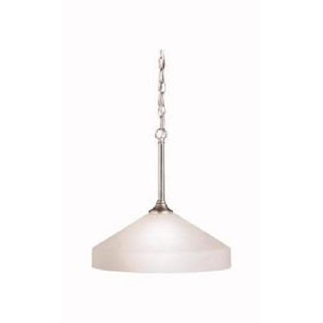 Kichler Brushed Nickel Ansonia Single-Bulb Indoor Pendant With Dome-Shaped Glass Shade
