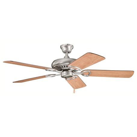 "Kichler Antique Pewter Sutter Place 52"" Indoor Ceiling Fans With 5 Blades"