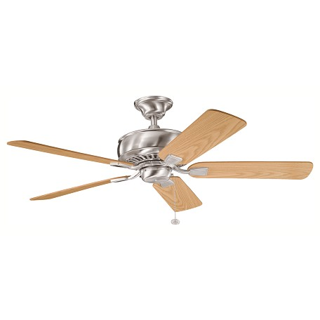 "Kichler Brushed Stainless Steel Saxon 52"" Indoor Ceiling Fan With 5 Blades"