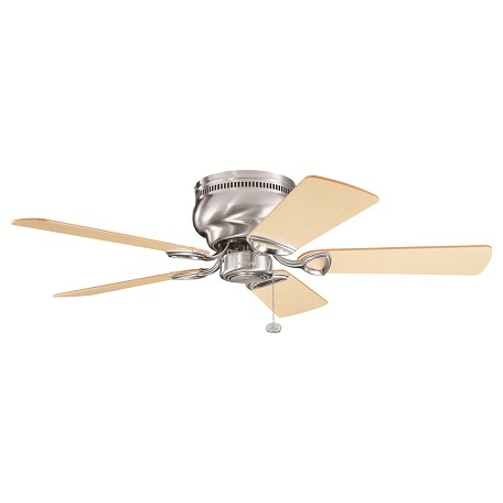 Kichler Matte White Stratmoor 42In. Flush Mount Indoor Ceiling Fan With 5 Blades