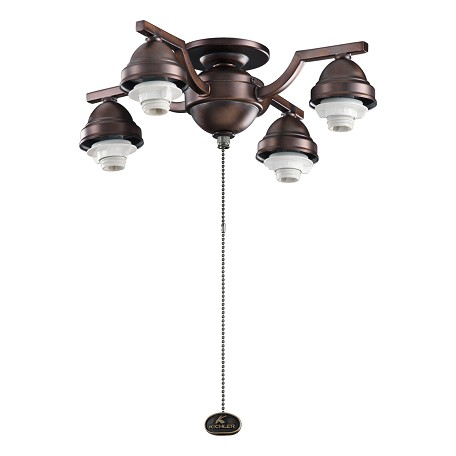 Kichler Four Light Oil Brushed Bronze Fan Light Kit