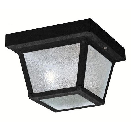 Kichler One Light Black (Painted) Outdoor Flush Mount 12 Pack