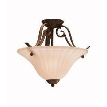 Kichler One Light Tannery Bronze Bowl Semi-Flush Mount