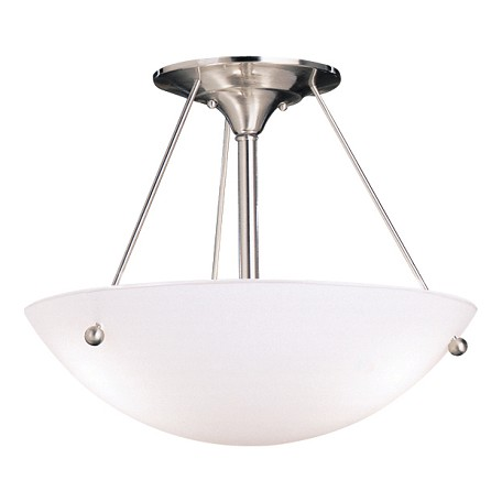 Kichler Brushed Nickel Family Spaces 3 Light Semi-Flush Indoor Ceiling Fixture