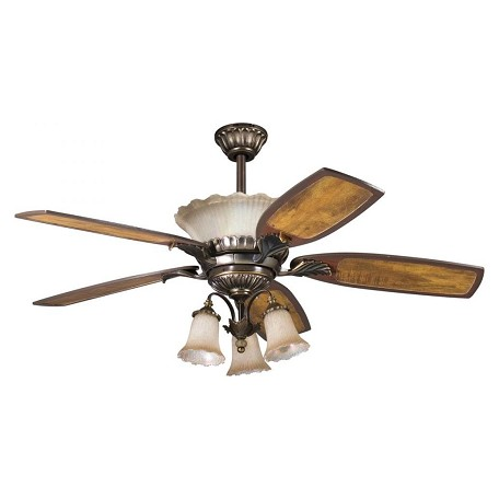 Kichler Three Light Oiled Bronze Fan Light Kit