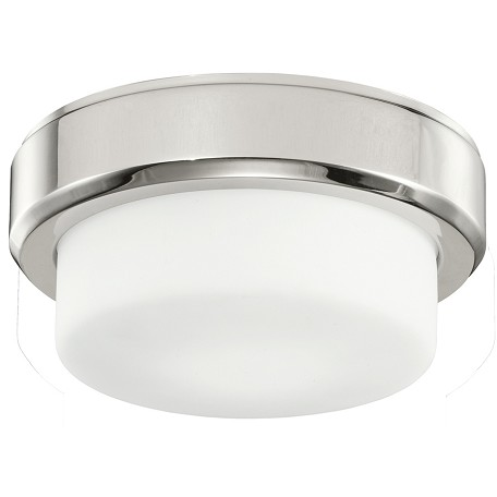 Kichler One Light Polished Nickel Drum Shade Flush Mount