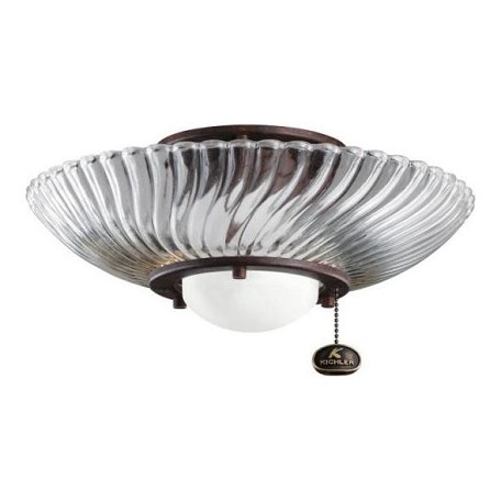 Kichler One Light Tannery Bronze Fan Light Kit