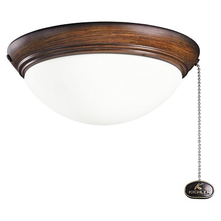 Kichler Two Light Mediterranean Walnut Fan Light Kit