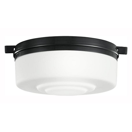 Kichler One Light Satin Black Drum Shade Flush Mount