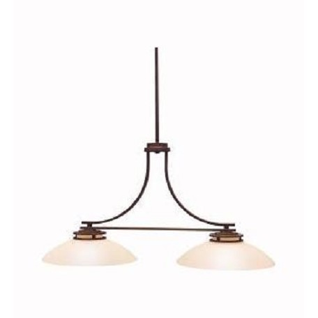 Kichler Kichler 3875Oz Olde Bronze Hendrik Single-Tier Linear Chandelier With 2 Lights