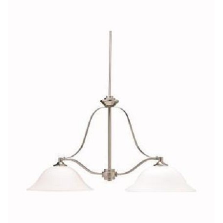 Kichler Brushed Nickel Langford Single-Tier Linear Chandelier With 1 Lights