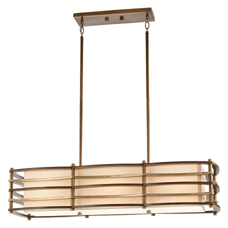 Kichler Cambridge Bronze Moxie Single-Tier Linear Chandelier With 3 Lights
