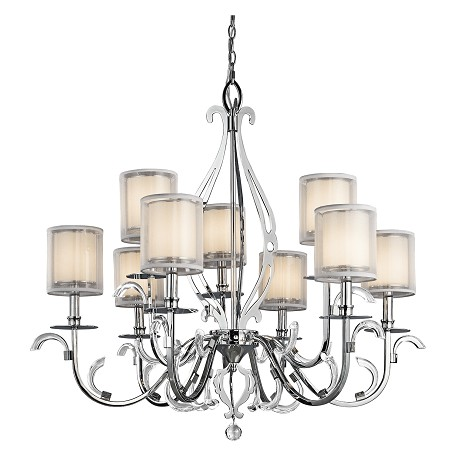 Kichler Kichler 42304Ch Chrome Jardine 2-Tier  Chandelier With 9 Lights