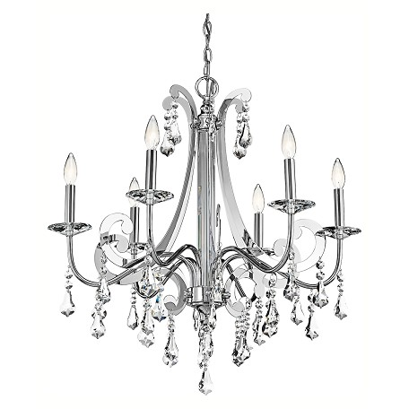 Kichler Kichler 42545Ch Chrome Leanora Single-Tier  Chandelier With 6 Lights