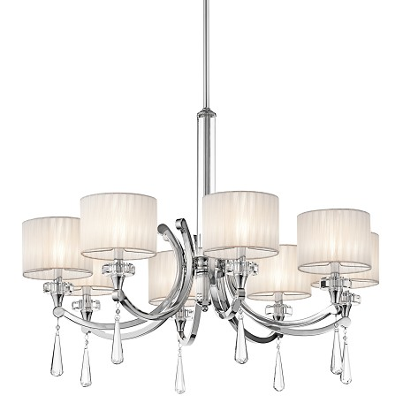 Kichler Kichler 42632Ch Chrome Parker Point Single-Tier  Chandelier With 8 Lights