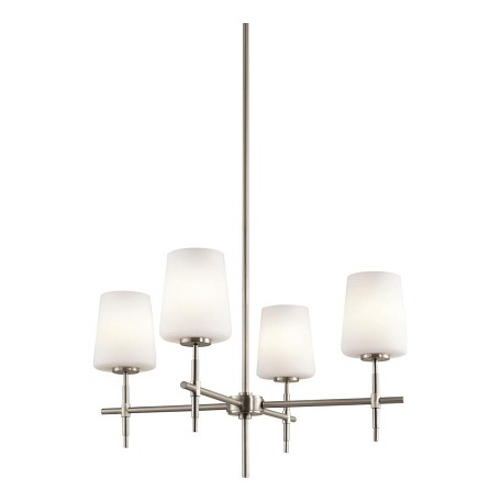 Kichler Kichler 43085Ni Brushed Nickel Arvella Single-Tier  Chandelier With 4 Lights