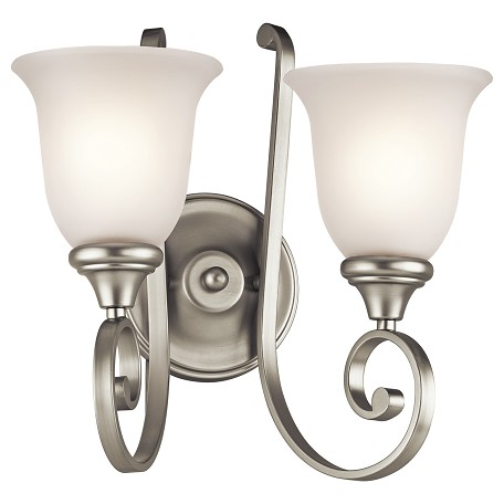 Kichler Kichler 43171Ni Brushed Nickel Monroe 2 Light Wall Sconce