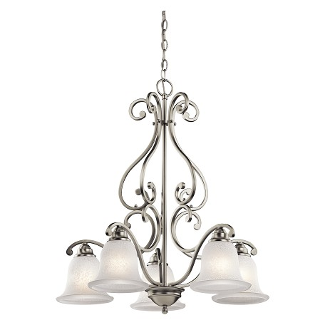Kichler Kichler 43225Ni Brushed Nickel Camerena Single-Tier  Chandelier With 5 Lights