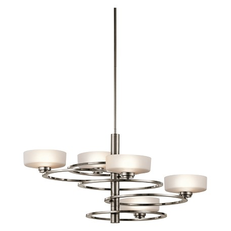 Kichler Classic Pewter Aleeka 5 Tier Chandelier With 5-Lights - 34 Inches Wide