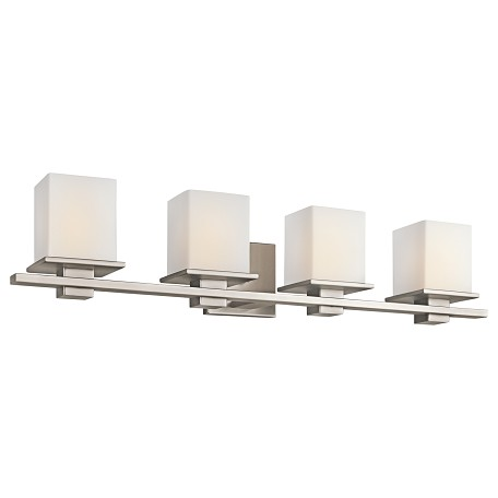 "Kichler Kichler 45152Ap Antique Pewter Tully 32"" Wide 4-Bulb Bathroom Fixture"