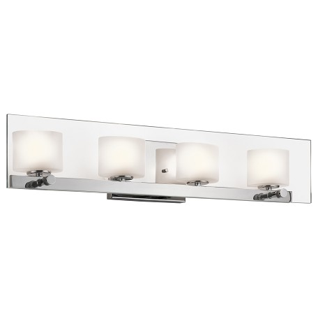 Kichler Chrome Como 27.75In. Wide Single-Bulb Bathroom Lighting Fixture