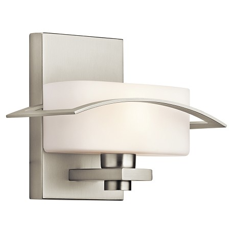 Kichler One Light Brushed Nickel Wall Light