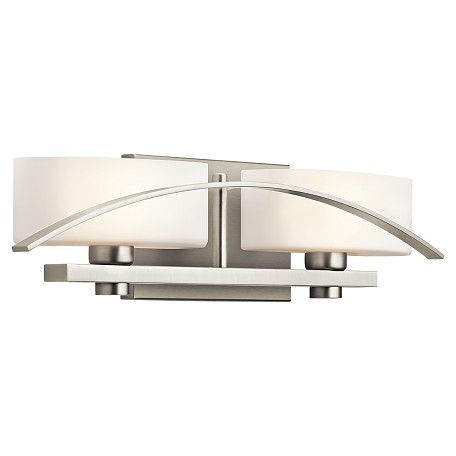 "Kichler Kichler 45316Ni Brushed Nickel Suspension 20"" Wide 2-Bulb Bathroom Fixture"