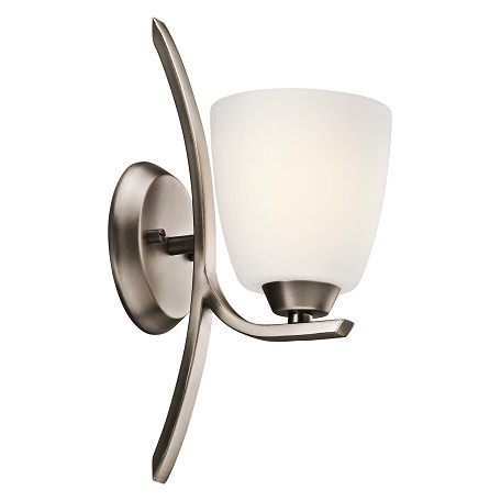 Kichler Brushed Pewter Granby 5.25In. Wide Single-Bulb Bathroom Lighting Fixture